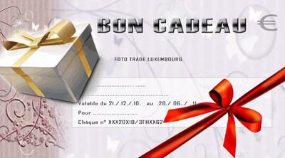 Bon Cadeau Voucher Foto Trade Luxembourg