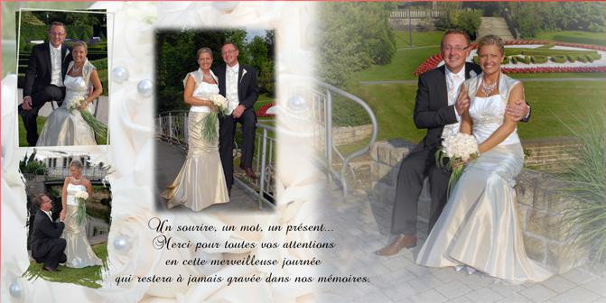 Carte de remerciement mariage FOTO TRADE Gasperich Luxembourg