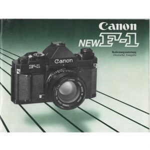 NOTICE ORIGINALE CANON NEW F1